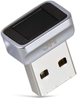 3R USB指紋認証キー Windows Hello 機能対応 10件登録可 USB 指紋認証リーダー 360度 指紋認証 PC ロック Windows10 / 8 / 7 64/32 Bits 対応 グレー