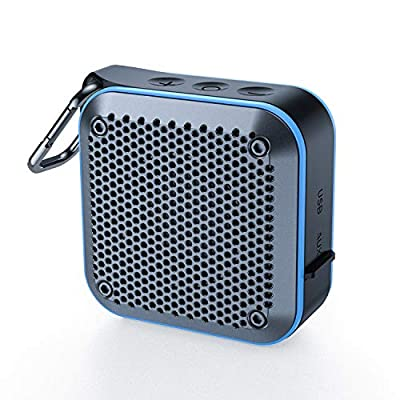 Waterproof Bluetooth Speaker, Shower IPX7 Waterproof Wireless Outdoor Mini Bluetooth Speakers, Bluetooth 5.0, AUX-in TF Card, 12 Hours Playtime, built in mic and 360¡ã TWS Stereo Sound Blue from KIYEDAM