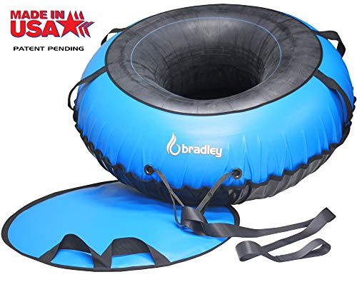 Ultimate Towable Snow Tube Sled   60' Heavy Duty Cover   Padded Saucer...