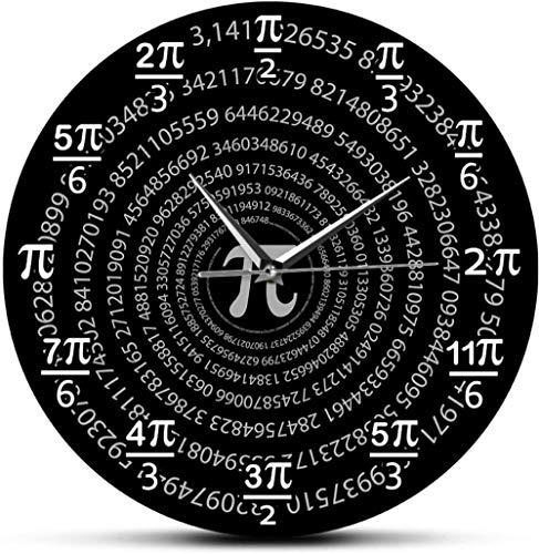 Reloj De Pared Relojes De Pared Pi 3.14 Matemáticas Escuela Aula Decoración De Pared Matemáticas Ciencia Arte De La Pared Decorativo Día De Pi Regalos Para Amantes De Las Matemáticas