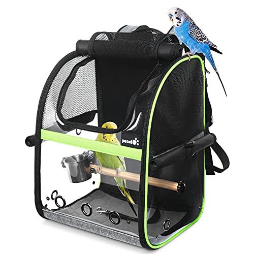Pecute Transportin pájaros Plegable Bolsa transportadora para pájaros Mochilas para loro para...