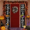 Halloween Decorations Outdoor - Halloween Decor - Trick Or Treat Hocus Pocus Large Witch Banners Porch Signs - For Front Door Outside Yard Garland Party Supplies - Orange Black