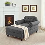 BEEY Chaise Lounge Living Room Chaise Lounger Chair with Thick Padding Lounge Couch Sofa for Home Bedroom Apartment (56' Lx39 Wx31 H)