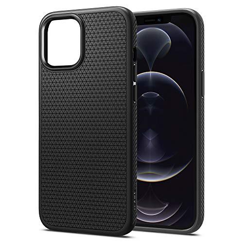 Spigen Funda Liquid Air Compatible con iPhone 12 Pro MAX - Negro