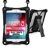 7.9-8.9'' Tablethülle, Cooper Trooper 2K Strapazierfähige, robuste & beständige Schutzhülle mit Schultergurt & integrierter Standfunktion für 8-8.9'' Zoll Tablet (Schwarz)