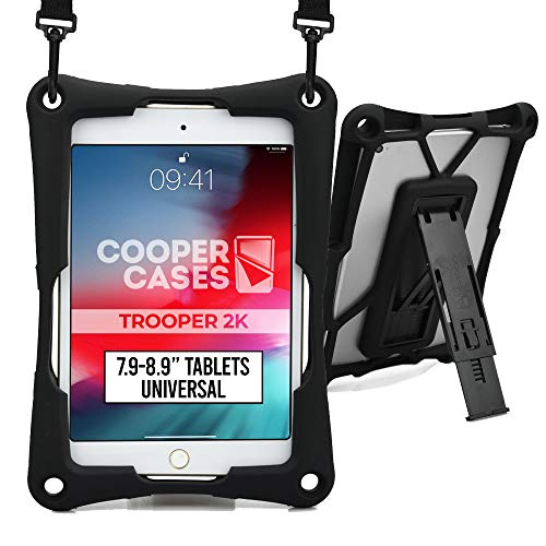 Cooper Trooper 2K Custodia Robusta per Tablet da 7,9 a 8,9' (20,06-22,60 cm)  Protettiva per Bambini Resistente agli Urti, Resistente agli Urti, Il Trasporto (Nero)