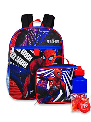Spider-Man 5-Piece Backpack Set - red/black, one size