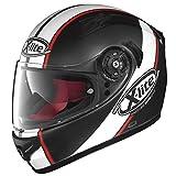X-lite X-661 VINTY - Casco integrale per moto, in fibra composita, colore: nero opaco e bianco, taglia XS