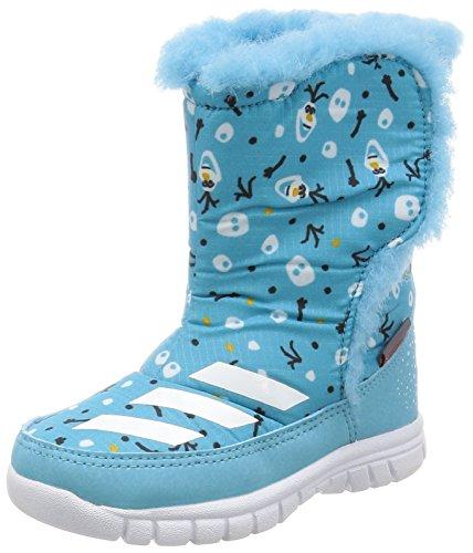 adidas Jungen Unisex Kinder Disney Frozen MID I Sneaker, Blau (Azuvap Ftwbla Eqtnar), 24 EU