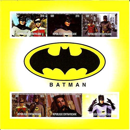 Francobollida collezione diBatman della Marvel, DC Comics, serie TV MNH, foglio di francobolli del 2016