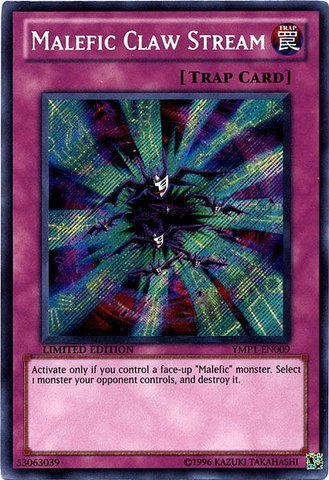 Yu-Gi-Oh! - Malefic Claw Stream (YMP1-EN009) - 3D Bonds Beyond Time Movie Pack - Limited Edition - Secret Rare
