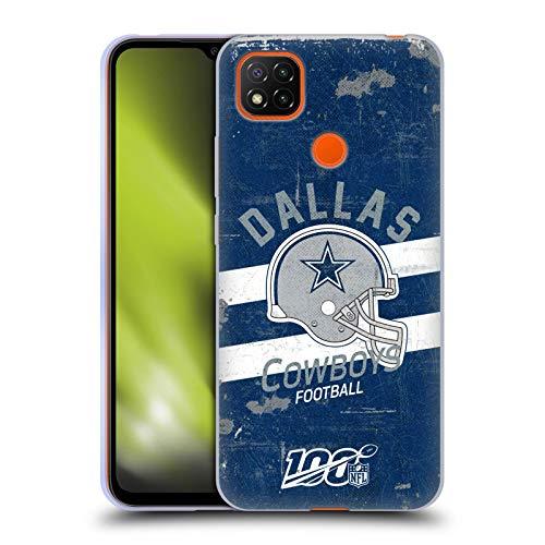 Head Case Designs Oficial NFL Casco Distressed Look 100th 2019/20 Dallas Cowboys Carcasa de Gel de Silicona Compatible con Xiaomi Redmi 9C