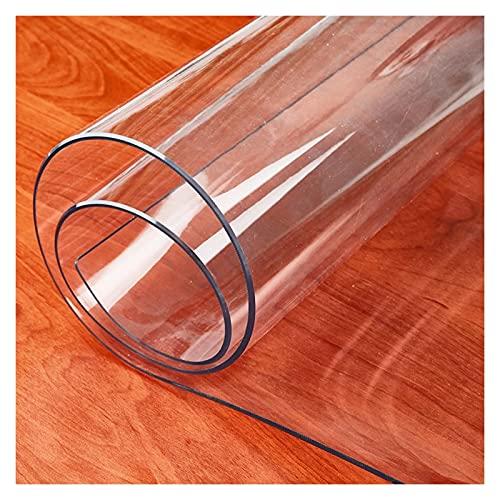 ALGXYQ Alfombrilla Transparente para Silla Oficina para Pisos Madera Dura Uso Escritorio Casa Resistente Los Rayones Antideslizante Impermeable, Se Puede Cortar (Color : 1.3mm, Size : 0.5x0.8m)