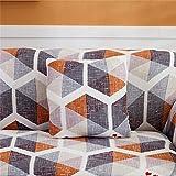 SUUZQK Funda De Almohada De Textiles para El Hogar Funda De Almohada con Estampado De Rayas Cuadradas para Decoración De Interiores De Dormitorio En Casa 6Pcs 18x18Inch(45x45cm)