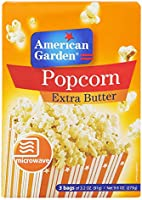 American Garden Pop Corn With Extra Butter, 273 gm