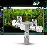 Weehey pour régulateur de séparateur de CO2 Régulateur de séparateur de CO2 pour réservoir d'aquarium, vanne de réglage précis pour régulateur de CO2 avec Prises à 2 Voies