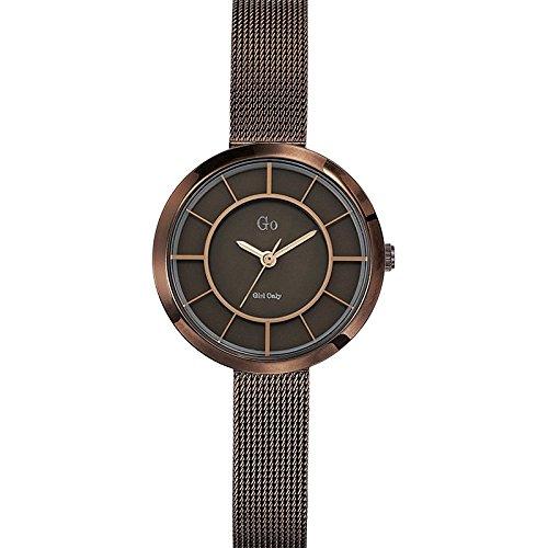 Go Girl Only-695003-Reloj para Mujer Cuarzo, analógico, Correa de Acero Inoxidable, Color marrón