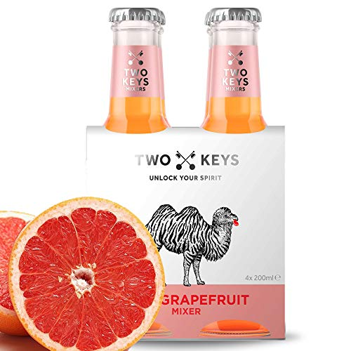 Two Keys Roze Grapefruit Paloma Tonic Water Pack van 12x 200ml Perfecte Cocktail Mixer voor Gin, Tequila, Wodka of Rum…
