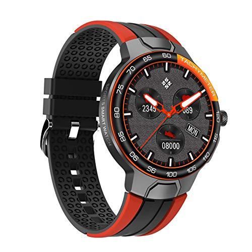 BNMY Smartwatch Reloj Inteligente Deportivo Impermeable IP67 Pulsera Actividad Inteligente con Monitor Sueño Controlador Música para Hombre Mujer Y Niños Admite Android Y iOS,Naranja