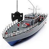 Sólido La alta simulación del buque de guerra de Control torpedera eléctrica recargable 2.4G...