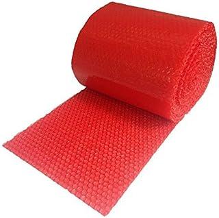 Realpack: 1 x Rolle antistatische rote Luftpolsterfolie. Größe: Breit - 300 mm x 100 m. Schützt elektrostatikfrei vor Transportschäden.