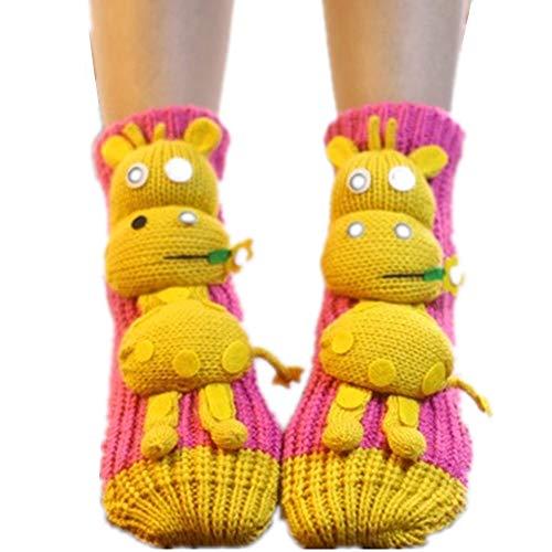 QSEVEN Navidad 3D Animales Calcetines