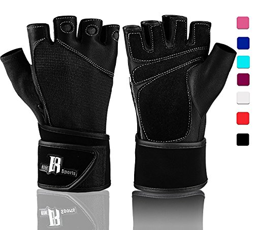RIMSports Weightlifting Gloves With Wrist Support - Workout Gloves...