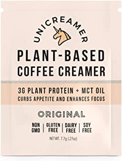 Unicreamer Vegan Non Dairy Coffee Creamer Sample Pack - Single Serve Individual Packets With Pea Protein Powder & MCT oil | Eco Friendly, Keto & Gluten Free Plant Based (Original, 6 pack)