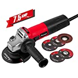 Avid Power Angle Grinder 7.5-Amp 4-1/2 inch with 2...