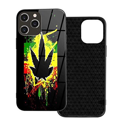 liusizheree Funda para iPhone 12 Patrón de Marihuana 420 Anti-Arañazos Antigolpes Protectora Case Cover para iPhone 12
