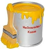 alles-meine.de GmbH Spardose - Farbtopf mit Pinsel -  Heimwerker Kasse  - gelb - stabile Sparbüchse aus Kunstharz / Polyresin - Sparschwein - für Kinder & Erwachsene / lustig w..