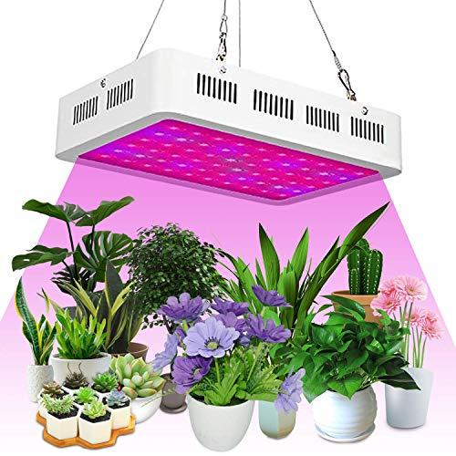 TRONMA Led Cultivo Interior 1000w Led Grow Light, Full Spectrum LED Planta Crece la luz para Plantas Crecimiento Floracion Armario Cultivo con IR UV Luz