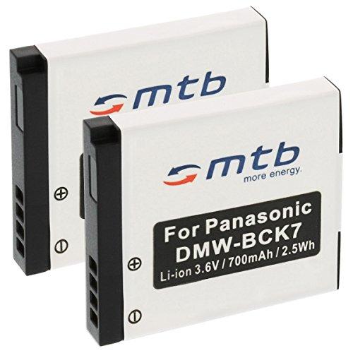 2x Batteria DMW-BCK7 per Panasonic Lumix DMC-FP5, FP7, FT20, FT25, FS16, FS18, FS22, FS28.vedi lista!
