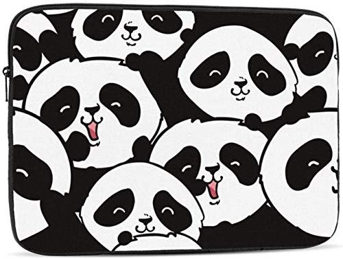 Cute Pandas Laptop Sleeve Bag - Evecase 15″ Neoprene Universal Sleeve Zipper Sleeve Cover Case for Notebook