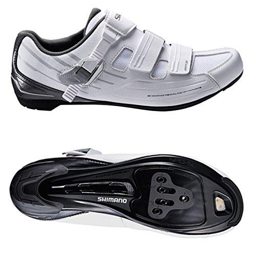 Shimano SHRP3NG450SW00, Zapatillas de Ciclismo de Carretera Hombre, Blanco (White), 45 EU
