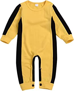 Boys Classic Jumpsuit,Dacawin Toddler Infant Baby Classic Yellow Bruce Lee Romper Clothes