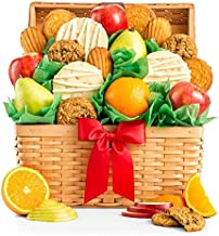 GiftTree Fresh Fruit and Gourmet Cookies Gift Basket | Premium Fresh Pears, Apples and Oranges with Fresh Cookies | Perfect Gift for Birthday, Business, Thank You, Sympathy, Holiday or Any Occasion