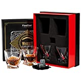 Finether Whiskeygläser Whiskybecher Whiskyglas Whisky Gläser einzigartiges Design|4er Whisky-Set...