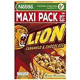 Cereales Nestlé Lion - Cereales de trigo y arroz tostados con crema de caramelo y chocolate - 16...