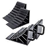 ProPlus Lot de 4 cales en plastique noir avec poignée pour caravane, camping-car et remorque