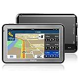 5' GPS Voiture Moto Navigation, Hieha Appareil de Navigation Écran HD Tactile, Intégrer Le Système des Instructions Vocales, Multi-Languages