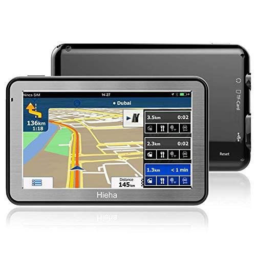 5' GPS Voiture Moto Navigation, Hieha Appareil de Navigation Écran HD Tactile, Intégrer Le...