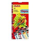 Herlitz 8643058 - Colori a tempera, 10 tubetti da 16 ml l'uno