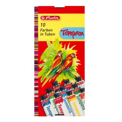 Herlitz 8643058 Temperafarben 10 Tuben je 16ml