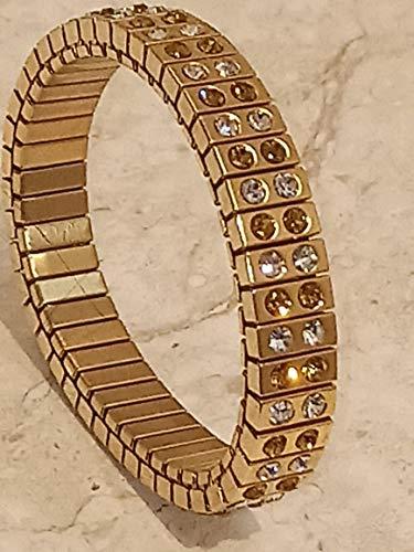 Pulsera de citrino de 24 quilates hecha a mano en oro amarillo Swarovski Jewelry Felicidad Buena Fortuna 96 con gemas, regalo de noviembre, cumpleaños para cualquier ocasión, alegría