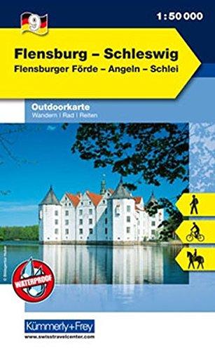 Outdoorkarte 09 Flensburg - Schleswig 1 : 50.000: Wandern, Rad, Reiten.Flensburger Förde, Angeln, Schlei: Flensburger Förde, Angeln, Schlei. Wandern, ... (Kümmerly+Frey Outdoorkarten Deutschland)