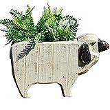 REVOLUMINI Simulated Animal Sheep Flower Pot Deck Planter Box Creative Planter for Indoor Outdoor Handmade...