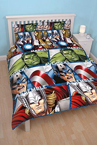 Character World Marvel Avengers Shield - Juego de Ropa de Cama Doble, Multicolor