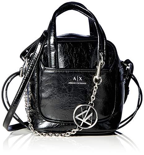 Armani Exchange Lily Small Bag, Bolsa pequeña. para Mujer, negro, Einheitsgröße