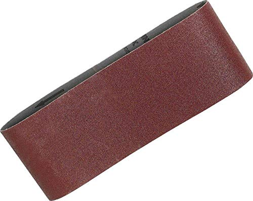 Makita P-36893 Lot de 5 bandes abrasives 100 x 610 mm à grain grossier 60 Rouge